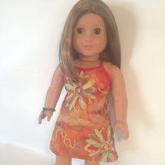 ღஐღ PLEASE READ LISTING & SHIPPING POLICY BEFORE PURCHASING ღஐღ  fits popular 18 in Doll ************************************************************************* Item details: 1- Dress Please note, each dress is different as Coloring of dye will vary in fabric... and the placement of the embroidery is random. There will be dye marks and dot throughout this dress. See the last image  This listing is ONLY for ONE Dress; Doll, Jewelry, Hair Accessory and Shoes not include Closure: Velcro (i...