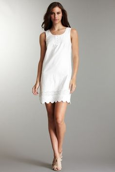summer deals..Embroidered Lace Trim Shift Dress (I would add a little length for me :)