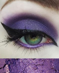 Unity eye shadow by Concrete Minerals Vibrant purple with gold sparkle. This shadow is a pretty, bright purple with a dash of gold to make eyes pop! Make Eyes Pop, Concrete Minerals, Indie Makeup, Bright Purple, Gold Sparkle, Unity, Eyeshadow, Vibrant, Cosmetics