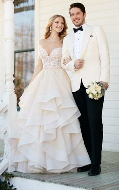 Bryce + Stevie Tulle skirt wedding separates by Martina Liana