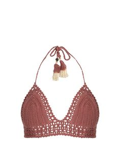 39b66cb8482ed Zimmermann Aerial crochet and floral-print bikini ($197) ❤ liked on ...