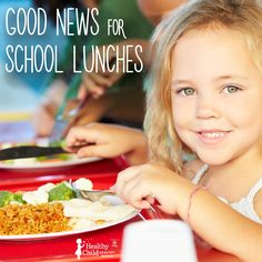 Good news for school lunches: They're getting healthier!