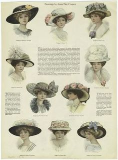 Fashion vintage ilustration hats Ideas for 2019 Victorian Hats, Edwardian Era, Edwardian Fashion, Vintage Fashion, Gothic Fashion, Vintage Beauty, Belle Epoque, Historical Costume, Historical Clothing