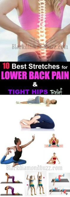 Stretches for Lower Back Pain - Do you want to get rid of lower back pain fast? Here are best stretches for lower back pain and tight hips you can do at home for lower back pain relief. What are the Causes of Lower Back Pain? Degenerative disc disease B Low Back Stretches, Lower Back Exercises, Best Stretches, Muscle Stretches, Stretching Workouts, Daily Stretches, Yoga Exercises, Lower Back Pain Relief, Low Back Pain
