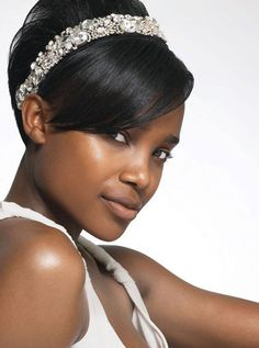 Black short wedding hairstyles in 2013 for African American Women. In case I go … Black short wedding hairstyles in 2013 for African American Women. In case I go back to short hair again. Black Wedding Hairstyles, Short Black Hairstyles, Short Wedding Hair, Diy Hairstyles, Short Hair Cuts, Short Hair Styles, Wedding Black, Bridal Hairstyles, Hairstyle Ideas