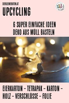 Egg-shaped autumn fairy lights, magical Tetrapak lanterns and other simple and wonderful ideas that Diy Upcycling, Upcycle, Decor Crafts, Diy And Crafts, Tetra Pack, Autumn Fairy, Fairy Lights, Fall Decor, Recycling