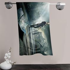 H-P&135 Custom Big Size 140cmx70cm Cotton Bath Towel The Walking Dead #3 Shower Towel For your family SQ00908-@H0135