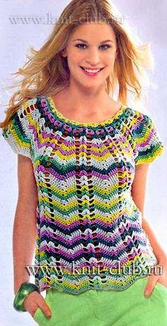 New Woman's Crochet Patterns Part 9 - Beautiful Crochet Patterns and Knitting Patterns Black Crochet Dress, Crochet Skirts, Crochet Clothes, Gilet Crochet, Crochet Blouse, Crochet Lace, Crochet Designs, Crochet Patterns, Crochet Stitches