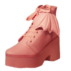 Trash Monkey ** Iron Fist - Bat Wing Boot in Pink