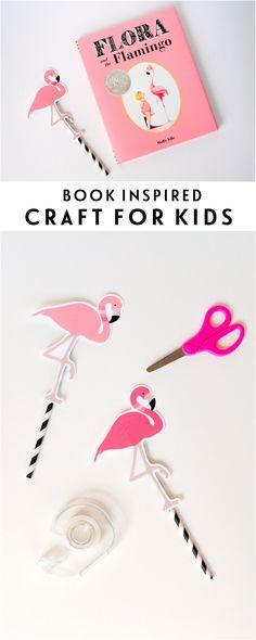 Flora + The Flamingo | Book Inspired Craft Idea for Kids http://www.thetomkatstudio.com/floraandtheflamingo/