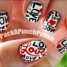Nail Art Amor y corazones Nail Art Tutorial