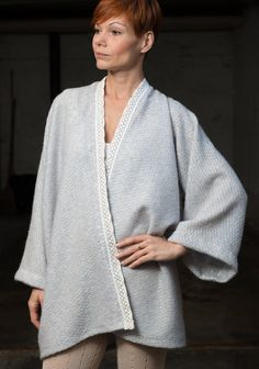 Lange Strickjacke Strickmantel Kimono jacke Pailletten
