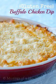Gluten Free Buffalo Chicken Dip via @Jo-Lynne Shane at www.musingsofahou...