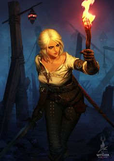 Ciri – The Witcher 3 fan art by Feihong Chen Medieval Fantasy, Sci Fi Fantasy, Fantasy Girl, Ciri Witcher, Witcher Art, The Witcher Wild Hunt, The Witcher Game, Fantasy Characters, Female Characters