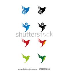 A set of bird photography icons