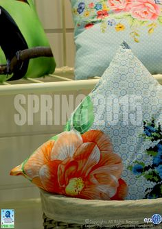 Made-ups from the garden……spring and summer blossoms in abundance... at IHGF Spring Fair, India #ihgfspring #homedecor #homefurnishing #hometextiles