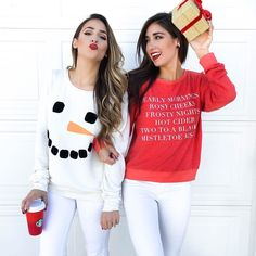 @courtney_shields has become one of my best friends this year she's been there right by my side through the craziest year of my life and I couldn't be more thankful for her sweet friendship and wisdom  so we dressed up to say merry merry in the cutest besties sweaters (they are so soft)  don't forget to tell your bestie how much you love them today - thankful for you Courtney! @liketoknow.it www.liketk.it/1YWDm #liketkit by thedarlingdetail