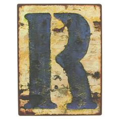 r 9 12 rustic iron wall letter