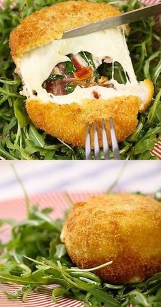 Stuffed mozzarella: this recipe is INGENIOUS! - DIY recipe for filled mozzarella! DIY recipe for filled mozzarella! DIY recipe for filled mozzarell - Pizza Recipes, Grilling Recipes, Appetizer Recipes, Healthy Recipes, Snacks Recipes, Barbecue Recipes, Burger Recipes, Appetizers, Cooking Recipes