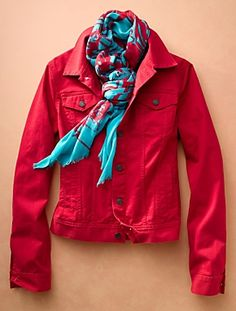 Again, the red and turquoise from Talbots for Spring 2013.  I can wear this jacket with the floral skirt and turquoise pants I bought.