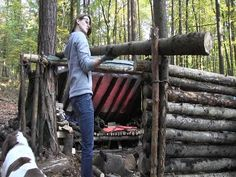 Building A Shelter For 2 People (Bug Out Camp) - YouTube