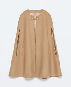 BUTTONED CAPE COAT from Zara