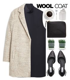 """""""Wool Coat - Polyvore Contest"""" by evangeline-lily ❤ liked on Polyvore featuring Jacquemus, MANGO, Steve Madden, Comme des Garçons, Seletti and woolcoat"""