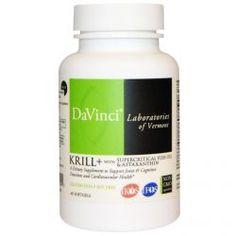 Davinci Laboratories Of Vermont, Krill+ With Supercritical Fish Oil & Astaxanthin, 60 Softgels, Diet Suplements ST