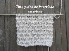 Point de bourriche au tricot facile à réaliser.