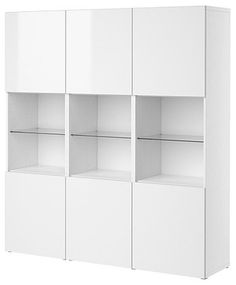 BESTÅ Storage combination with doors - modern - bookcases cabinets and computer armoires - - by IKEA