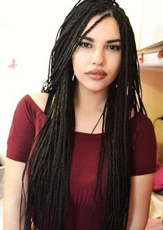 Awesome Box Braids Hairstyles: Long Box Braids Box braids have been around forever. The were notorious for the multiple stranded box braids that were all about Pelo Rasta, Pelo Afro, Short Box Braids, Blonde Box Braids, Long Braids, Small Braids, Rock Hairstyles, Box Braids Hairstyles, Hair Updo