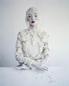 """INSPIRATION @MUSEBEAUTYPRO: """"MAGICAL THINKING"""" W Magazine -  MUSE: Liu Wen, Photographer: Tim Walker, Hair: Julien d'Ys, Makeup Artist: Stephane Marais"""