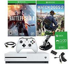 Xbox One S 500GB Battlefield 1 Bundle with Watch Dogs 2