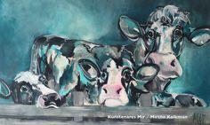 Dutch artist Mir Veelzijdig kunstenares Mir schildert o.a . Kleurrijke koeien dieren  koeien Dutch cows art kunst schilderij painting cowart koeienkunst koeienportret  koeschilderij kleur www.kunstenaresmir.nl