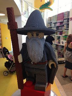 Life Size Gandalf Minifig at Downtown Disney LEGO Shop in Anaheim, California