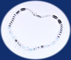 Excited to share the latest addition to my #etsy shop: Vintage Crystal Necklace Glass Bead Necklace Aurora Borealis Necklace Vintage Jewelry Costume Jewelry Unique Necklace Wedding Necklace http://etsy.me/2CVWOgh #jewelry #necklace #silver #blue #no #lobsterclaw #vinta