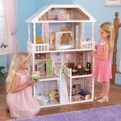 casita de muecas modelo savannah de kidkraft de diseo clsico para decoracin en habitacin de nias