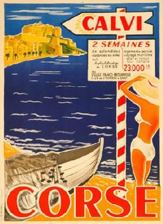 Travel poster Anonymous, Corse.