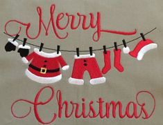 Machine Embroidery Design  Christmas Clothes by BlingSassSparkle