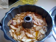 Apple Cake Recipes, Apple Cakes, Greek Desserts, Apple Pie, Caramel, Oatmeal, Pork, Food And Drink, Cooking Recipes