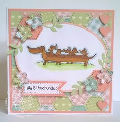 Designed by Sarah Bell for LC Designs Hochanda show using Happy Daschunds