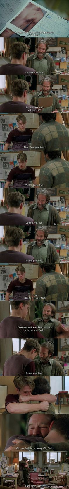 Good Will Hunting, one of the best movies in existence [I legitimately feel anger when people do Good Will Hunting-bashing - I completely adore it. Sad Movies, Series Movies, Great Movies, Film Movie, Cinema Quotes, Film Quotes, Good Will Hunting Quotes, Movies Showing, Movies And Tv Shows