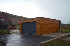 Garage bois à toit plat