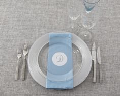 Party Rental Ltd: Rattan Grey Linen, Tribeca Flatware, Silver Saturn Charger, Glass Rim Dinner, Light Blue Cotton Dinner Napkin, Elan Glassware, Aqua Tinted Flute