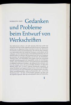 Hermann Zapf | Das zweite Buch des Handbuchs Typografische Service (part.2) | Design und Tippfehler