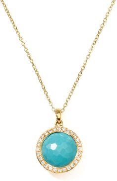 Ippolita 18k Gold Rock Candy Mini Lollipop Diamond Turquoise Necklace on shopstyle.com