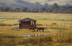 "Alexandre Reider - ""Pastagem"", óleo s/tela, 30x40cm, 2012."