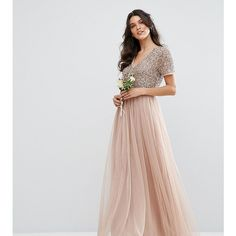 Maya V Neck Maxi Tulle Dress with Tonal Delicate Sequins (1.045 NOK) ❤ liked on Polyvore featuring dresses, pink, pink dress, pink cocktail dress, beaded cocktail dress, sequin cocktail dresses and tall maxi dresses