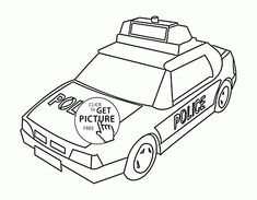 Small Police Car Coloring Page For Kids Transportation Pages Printables Free