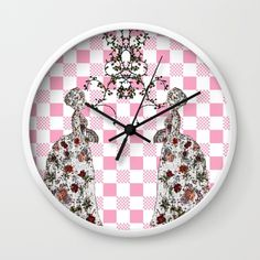 TALKING PINK Wall Clock